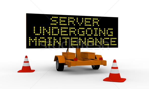 Server undergoing maintenance Stock photo © Harlekino