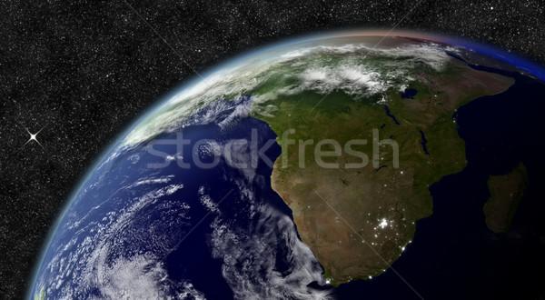 South Africa ruimte communie afbeelding wolken kaart Stockfoto © Harlekino