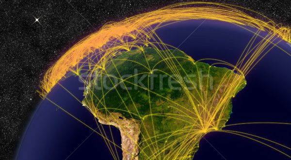 Air travel in South America Stock photo © Harlekino