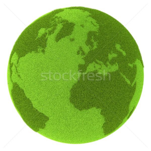 Zdjęcia stock: Europie · zielone · planety · planety · Ziemi · pokryty · trawy