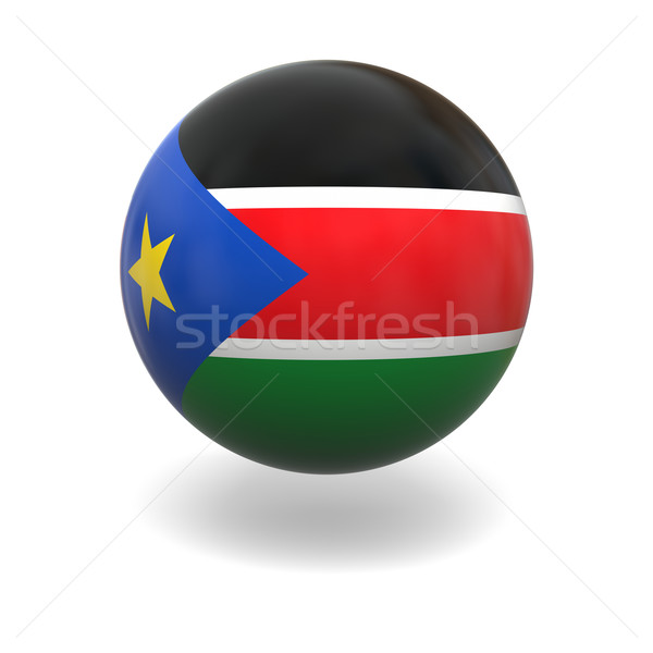 South Sudan flag Stock photo © Harlekino