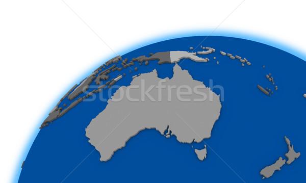 Australia on globe political map Stock photo © Harlekino