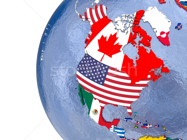 Political north America map Stock photo © Harlekino