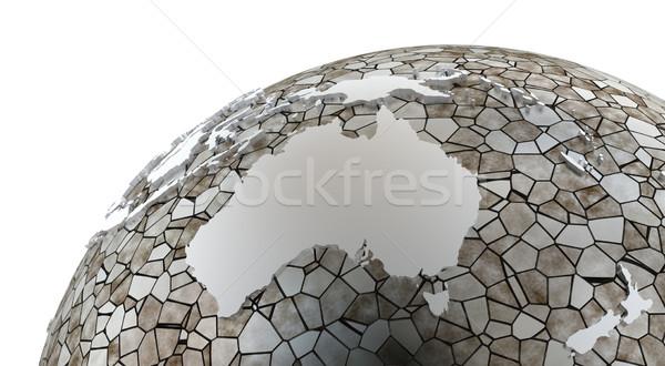 Австралия полупрозрачный земле металлический модель планете Земля Сток-фото © Harlekino