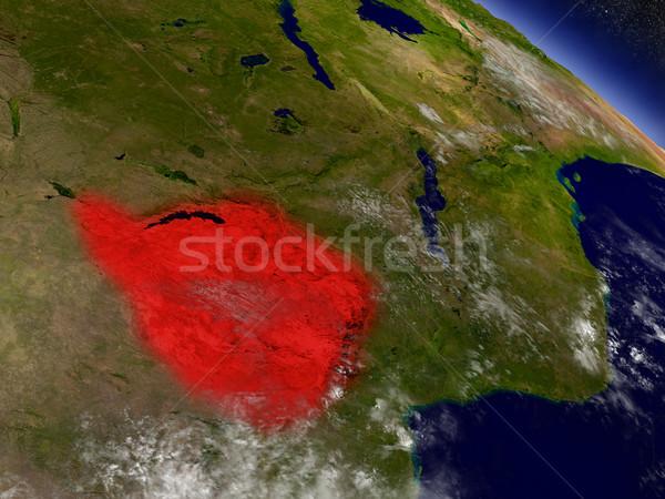 ジンバブエ スペース 赤 軌道 3次元の図 ストックフォト © Harlekino