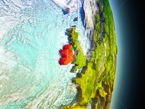 Ireland in red from space Stock photo © Harlekino