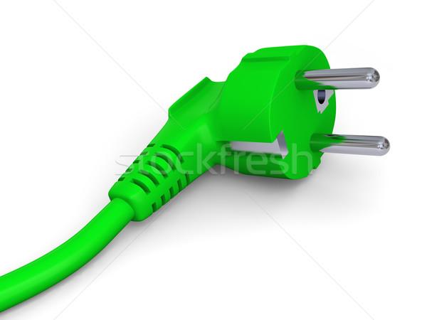 Green power plug Stock photo © Harlekino