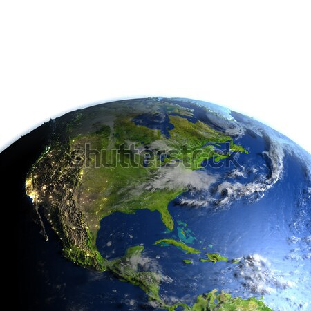 Modelo tierra américa del sur detallado nubes Foto stock © Harlekino