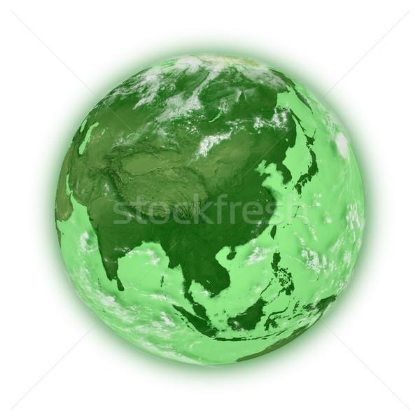 Sudeste da Ásia verde planeta terra isolado branco Foto stock © Harlekino