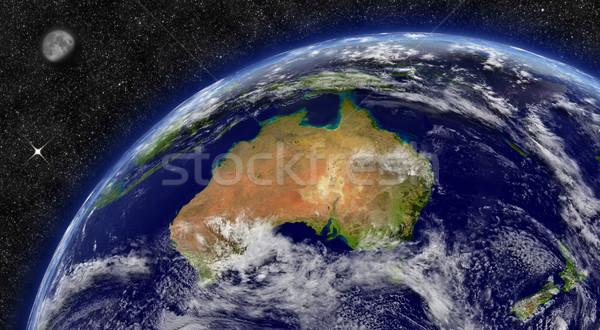 オーストラリア 地球 スペース 月 星 要素 ストックフォト © Harlekino