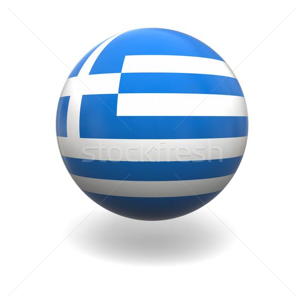 Greek flag Stock photo © Harlekino
