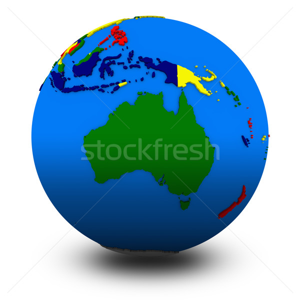Australie politique monde illustration isolé blanche Photo stock © Harlekino