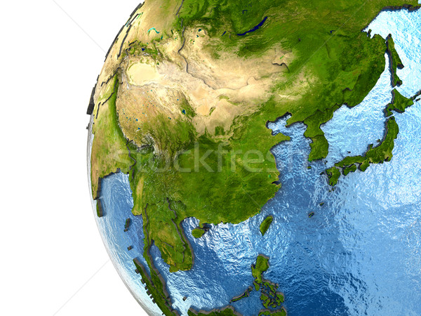 Southeast Asia on Earth Stock photo © Harlekino