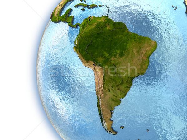 Güney amerika dünya gezegeni kıtalar ülke elemanları Stok fotoğraf © Harlekino