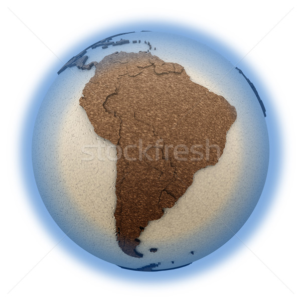 South America on light Earth Stock photo © Harlekino