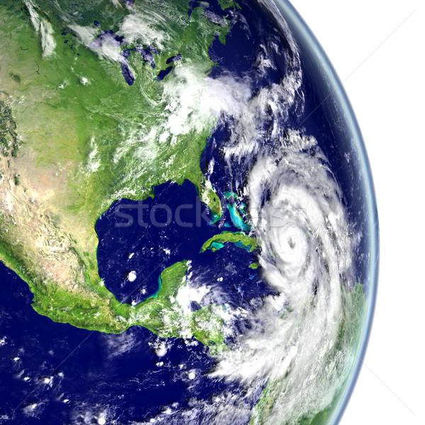 Kasırga caribbean dev 3d illustration elemanları görüntü Stok fotoğraf © Harlekino