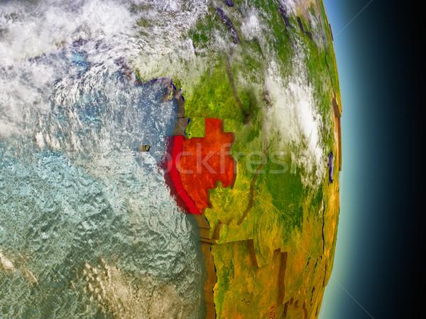ガボン 赤 スペース モデル 軌道 3次元の図 ストックフォト © Harlekino