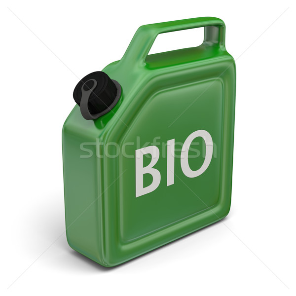 Jerry can with bio fuel Stock photo © Harlekino