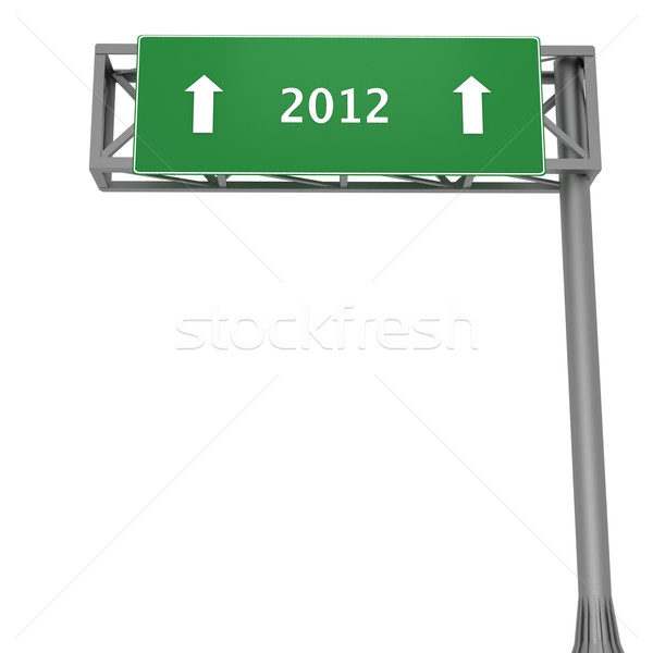2012 signboard Stock photo © Harlekino