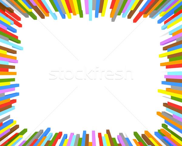 Colorido quadro colorido fundo cubo Foto stock © Harlekino