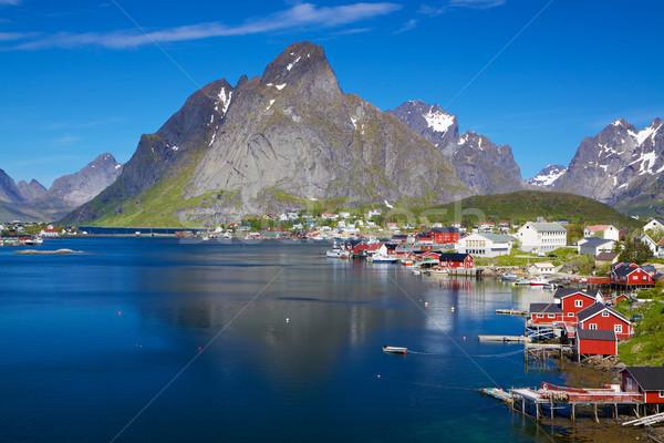 Scenico Norvegia estate città sereno Foto d'archivio © Harlekino