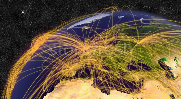 Air travel in Europe Stock photo © Harlekino