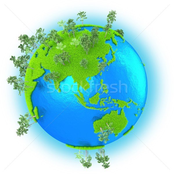 Southeast Asia and Australia on planet Earth Stock photo © Harlekino