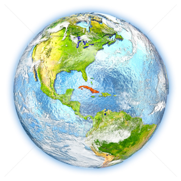 Cuba on Earth isolated Stock photo © Harlekino