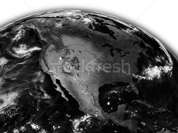 North America on black Earth Stock photo © Harlekino