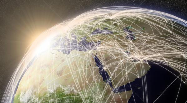 Network over Middle East Stock photo © Harlekino
