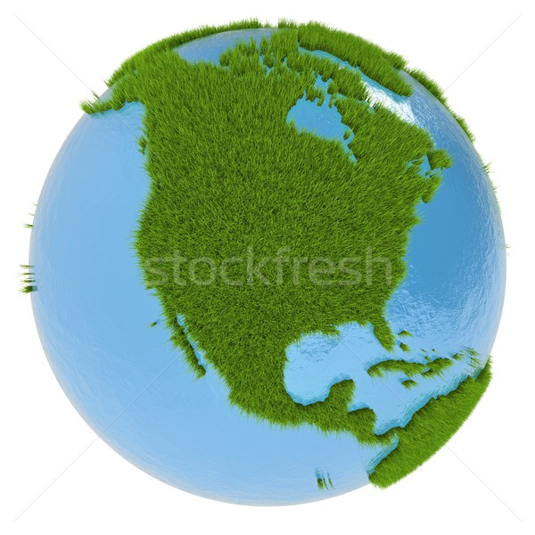 North America on green planet Stock photo © Harlekino