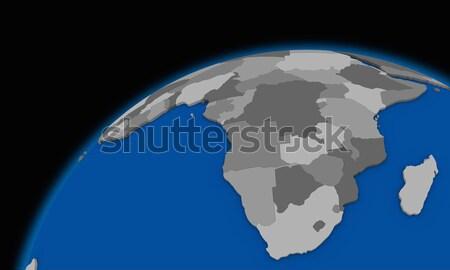 South Africa aarde politiek kaart wereldbol reizen Stockfoto © Harlekino