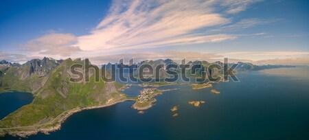 Aerial view of reine Stock photo © Harlekino