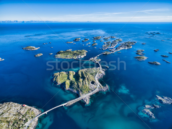 Henningsvaer from air Stock photo © Harlekino