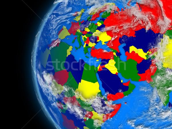 Regione politico mondo illustrazione atmosferico Foto d'archivio © Harlekino