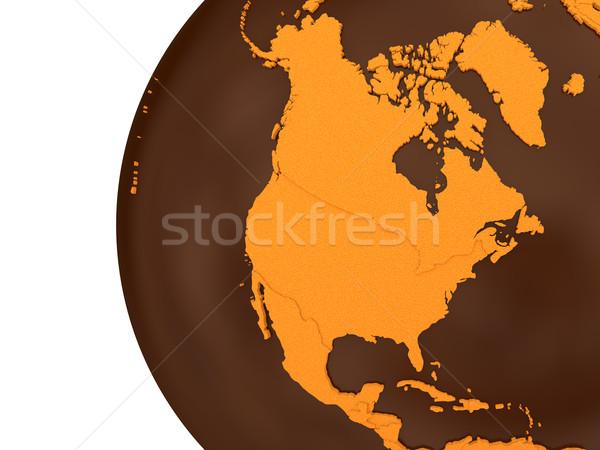 North America on chocolate Earth Stock photo © Harlekino