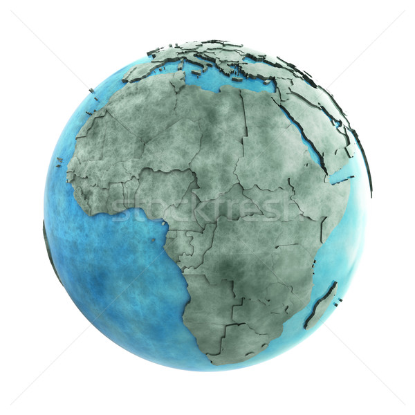Africa on marble planet Earth Stock photo © Harlekino