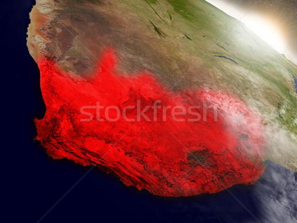 ЮАР пространстве красный орбита 3d иллюстрации Сток-фото © Harlekino
