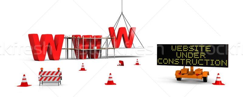 Website under construction Stock photo © Harlekino