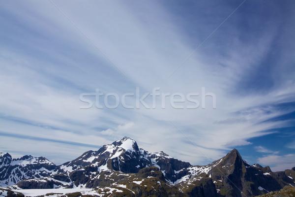 Cloudscape over mountains Stock photo © Harlekino