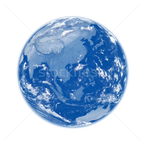 Sud-est asiatico blu terra pianeta terra isolato bianco Foto d'archivio © Harlekino