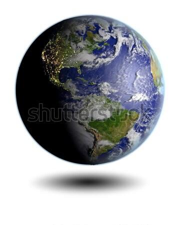 North America on blue Earth Stock photo © Harlekino