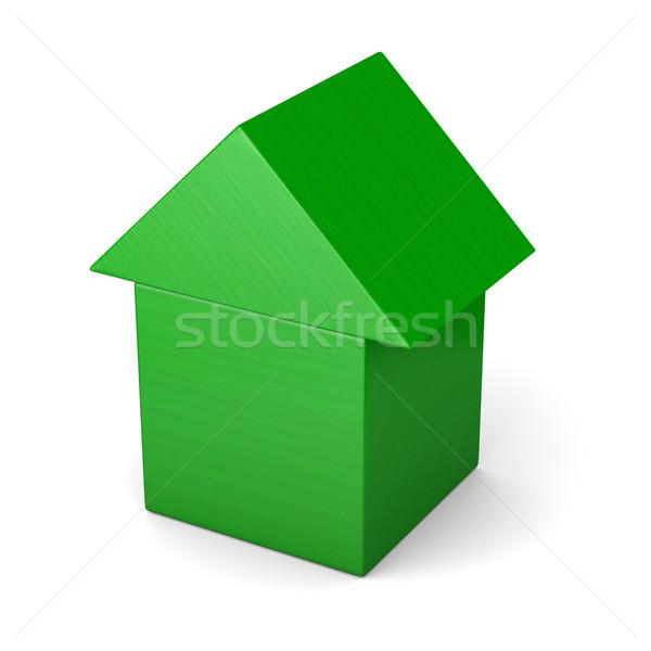 Green house made of cubes Stock photo © Harlekino