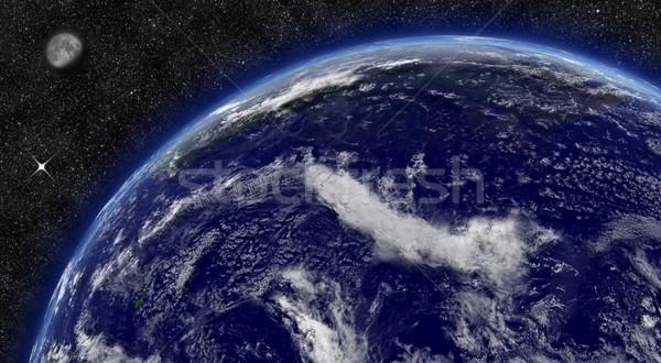 Okyanus dünya gezegeni uzay ay Yıldız elemanları Stok fotoğraf © Harlekino