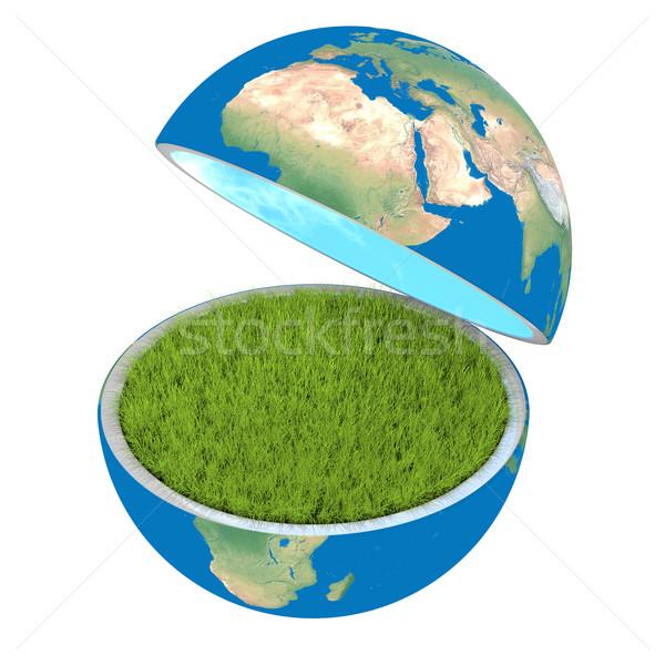 Abertura planeta planeta terra isolado branco ecologia Foto stock © Harlekino