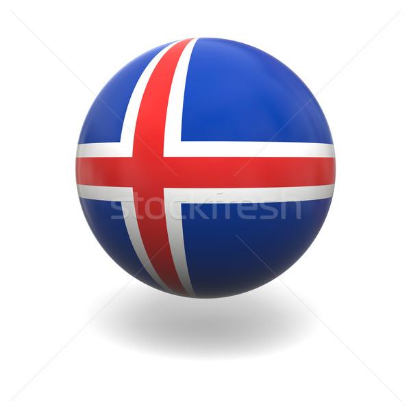 Icelandic flag Stock photo © Harlekino