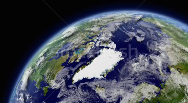 ártico espaço atmosfera nuvens elementos imagem Foto stock © Harlekino