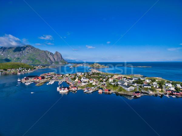 Norwegian coast Lofoten Stock photo © Harlekino
