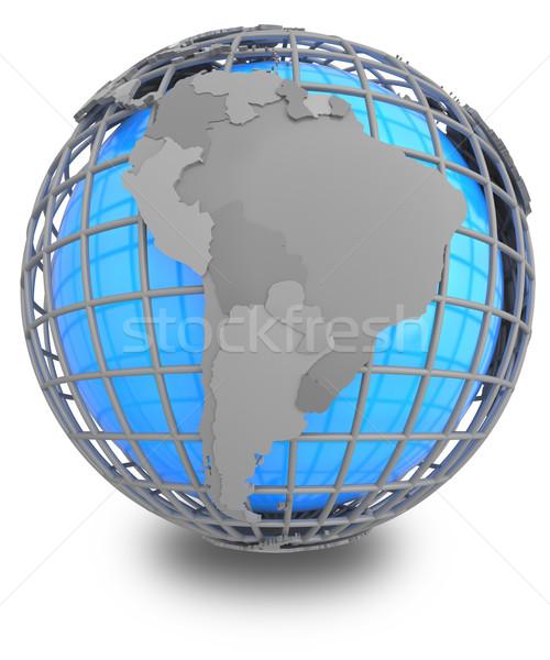 Южной Америке земле серый географический чистой изолированный Сток-фото © Harlekino