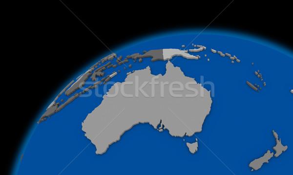 Австралия планете Земля политический карта мира пространстве Сток-фото © Harlekino